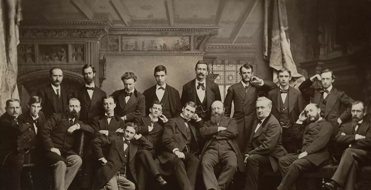 Eberhard Faber and the personnel in New York, 1877