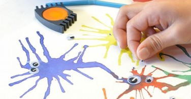 How to draw a blow paint monster