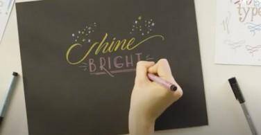 Hand Lettering with Pitt Artist Pen Metallic